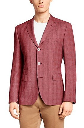 Hugo Boss Johnston' | Regular Fit, Italian Virgin Wool Blend Sport Coat, Red