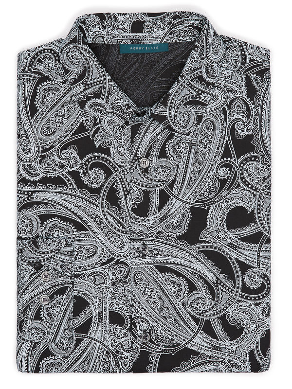 Large Scale Paisley Print Shirt