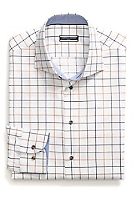 TAILORED COLLECTION COTTON DOBBY CHECK SHIRT