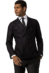 TAILORED COLLECTION SLIM FIT DOUBLE-BREASTED BLAZER