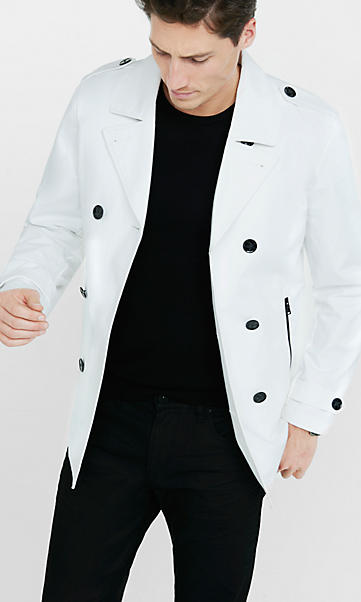 White Pea Coat Mens | Fashion Women's Coat 2017