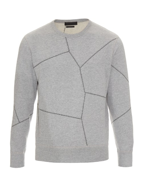 Matches Fashion Alexander McQueen Stitch-detail cotton-jersey sweatshirt