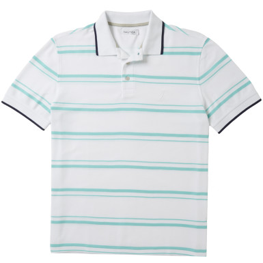 Striped Performance Pique Polo Shirt