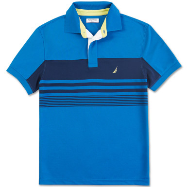 Striped Tech Pique Polo Shirt