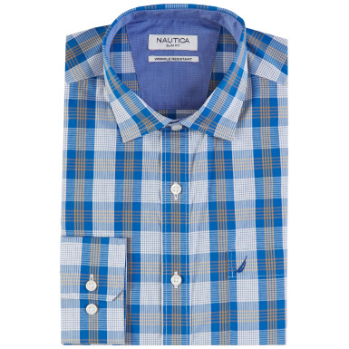 Wrinkle Resistant Bright Plaid Shirt