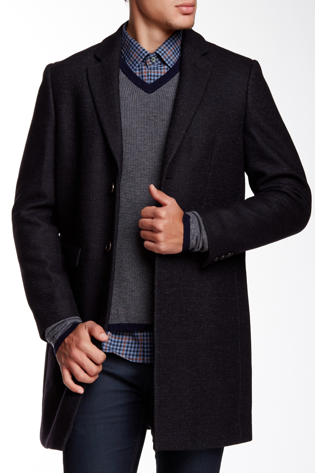 Zachary Prell Westminster Notch Collar Wool Blend Jacket