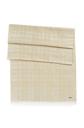 Hugo Boss Carosio' | Cotton Modal Plaid Scarf, Light Beige