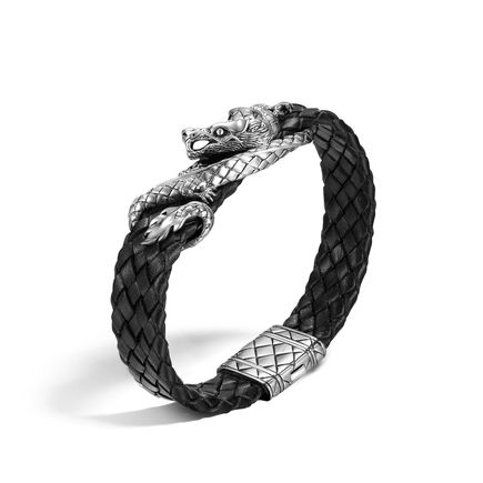 John Hardy Legends Naga Woven Leather Bracelet
