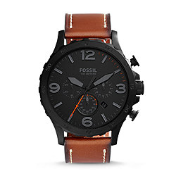 Nate Chronograph Luggage Leather Watch