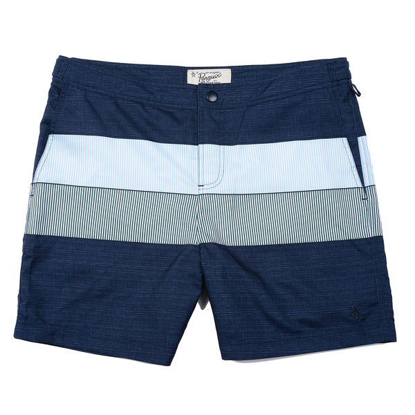 Original Penguin PIECED STRIPE SWIM VOLLEY