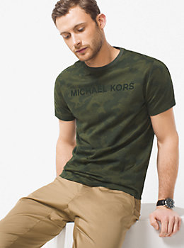 Camouflage Jersey T-Shirt by Michael Kors