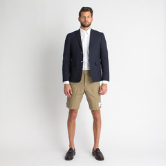 Washed Back Strap Cotton Twill Short