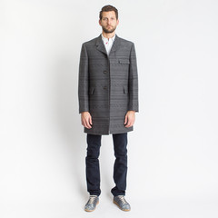 Wool Stamp Jacquard Fair Isle Classic Chesterfield Jacket