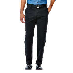 Performance Khakis - Straight Fit, Flat Front, Flex Waistband - Haggar