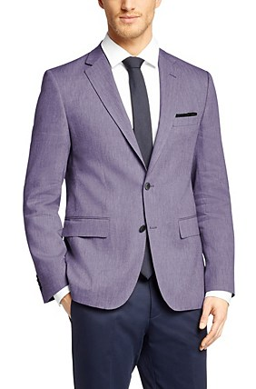 Hugo Boss Jarett' | Regular Fit, Italian Virgin Wool Blend Sport Coat, Purple