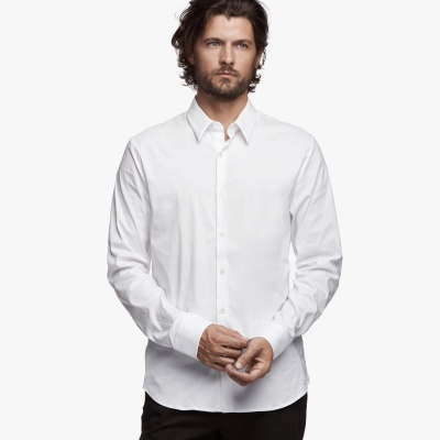 MATTE STRETCH POPLIN DRESS SHIRT