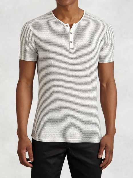 Striped Linen Henley