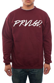 PRVLGD Legends Maroon/White Crewneck