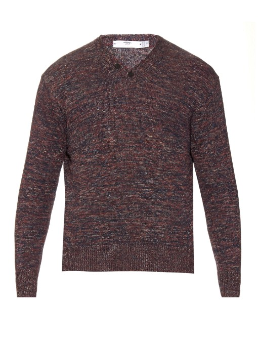Inis Meáin Donegal Hurling ribbed-knit linen sweater