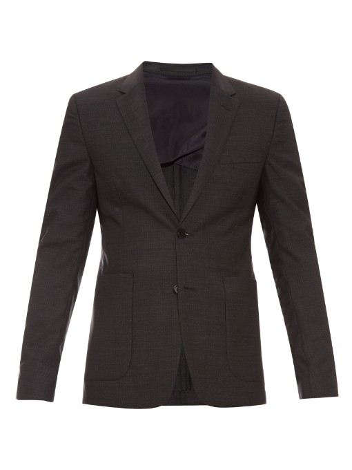 Matches Fashion Acne Studios Stan check wool blazer