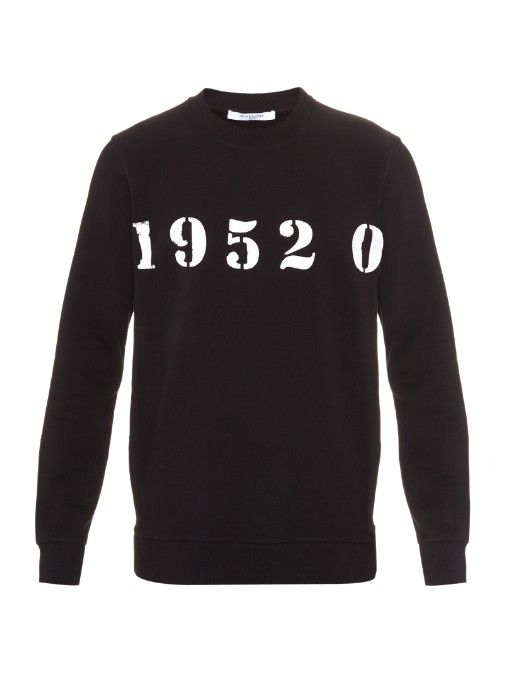 Matches Fashion Givenchy 1952 cotton sweatshirt