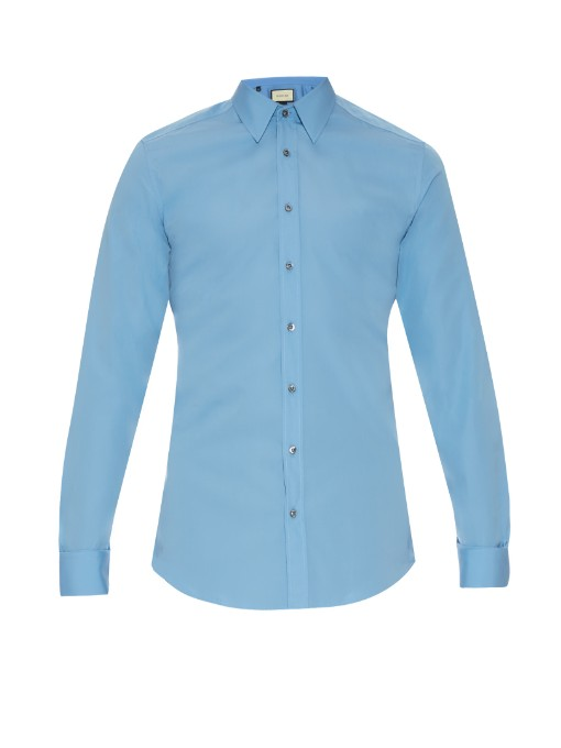 Matches Fashion Gucci Classic-fit cotton shirt