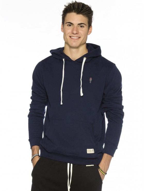 I am Gentleman True Blue Pullover Hoodie