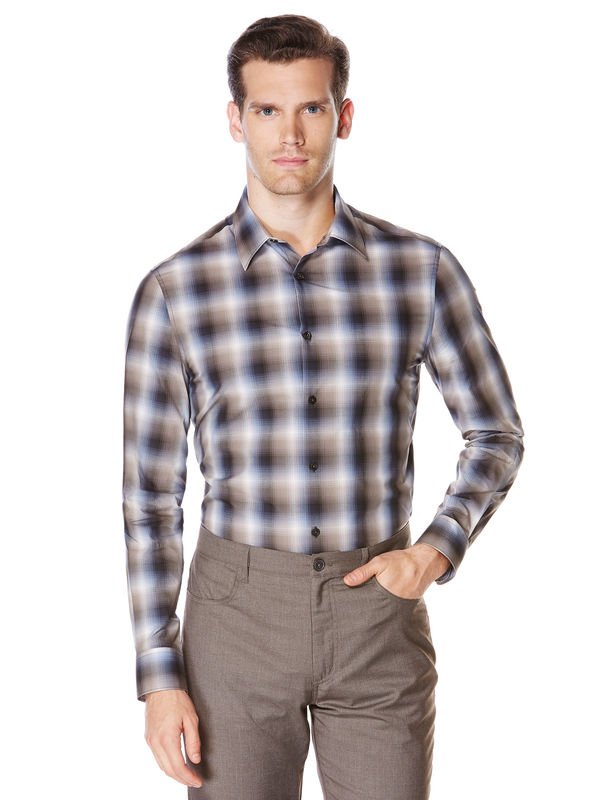 Ombre Plaid Check Shirt