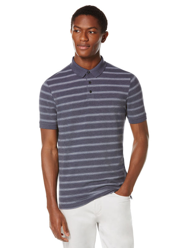 Short Sleeve Pique Stripe Polo