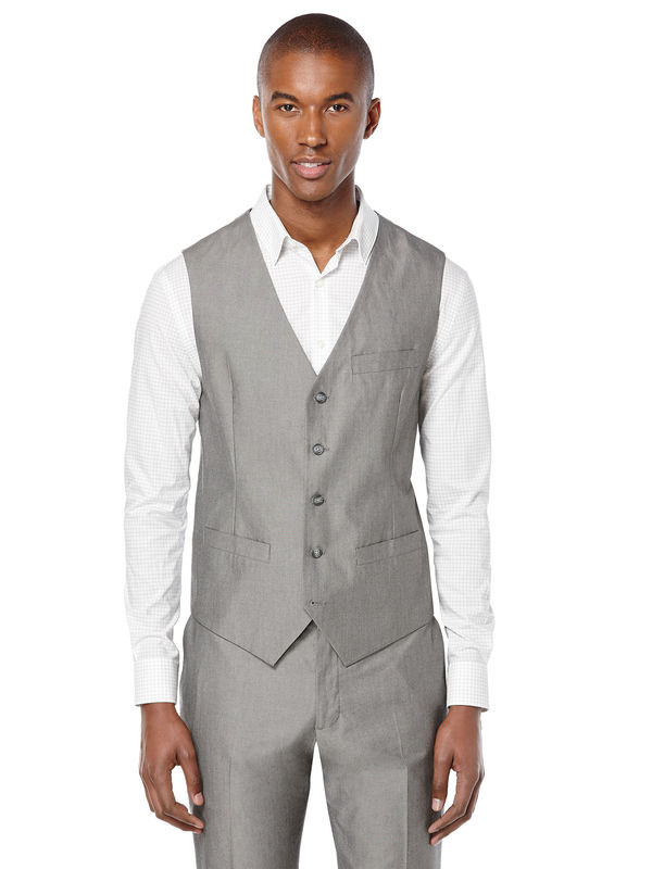 Slim Fit Chambray Suit Vest