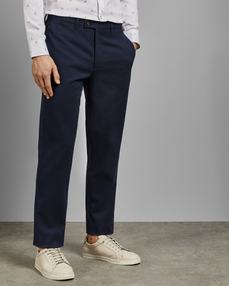 GORKTRO Textured semi plain trousers