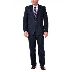 Big & Tall Suit Seperates - Tic Weave - Straight Fit  - Haggar